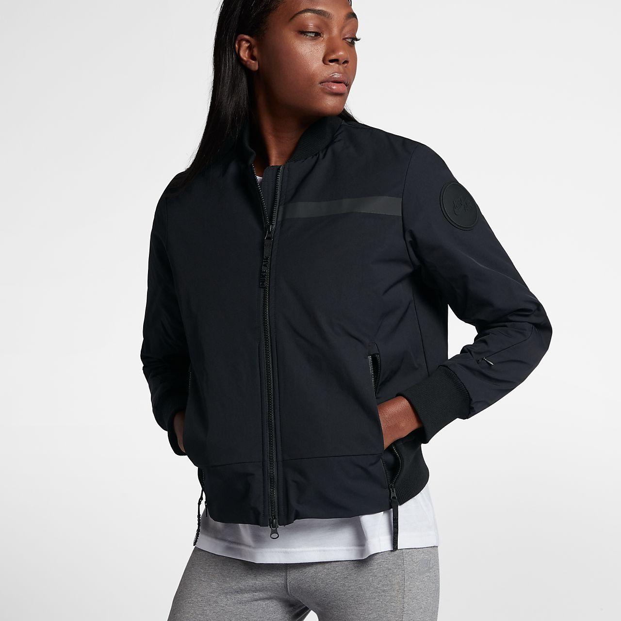 Nike Air Bomber Women S Woven Jacket Woven Jacket Sportswear Women Jackets [ 1280 x 1280 Pixel ]