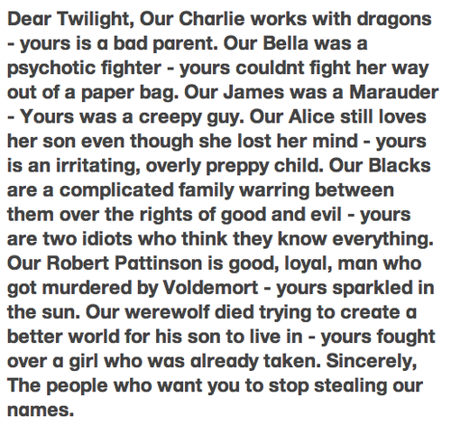 RESEARCH PAPER ON HARRY POTTER & TWILIGHT?