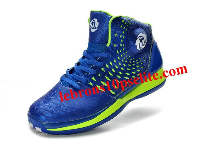 d75ea709d214 Adidas AdiZero Rose 3.5 Shoes Royal Blue Green Derrick Rose