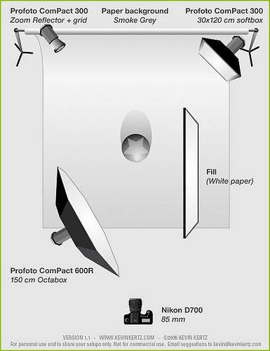 Studio lighting setup diagram for a simple one-light portrait (Profoto Softbox Octa 5u0027 + reflector) | Photography ~ Lighting Tips | Pinterest | Studio ...  sc 1 st  Pinterest & Studio lighting setup diagram for a simple one-light portrait ... azcodes.com