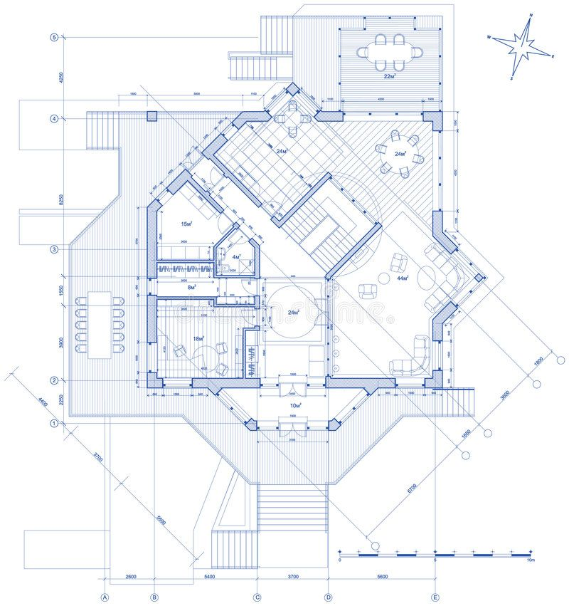 Illustration About Architecture Blueprint Plan House Technical Draw Illustration Of Fla Architecture Plan Architecture Blueprints Architectural Floor Plans