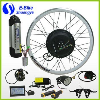 36v 48v 250w 350w 500w Electric Bike Conversion Kit With Battery