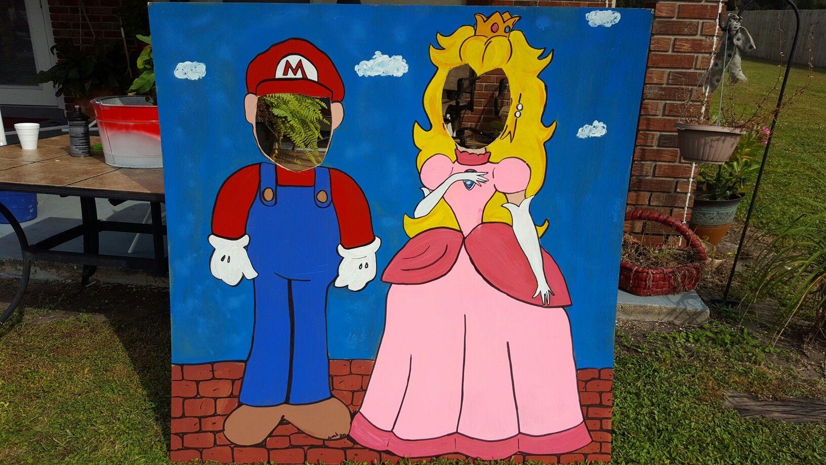 Mario Bros photo cutouts