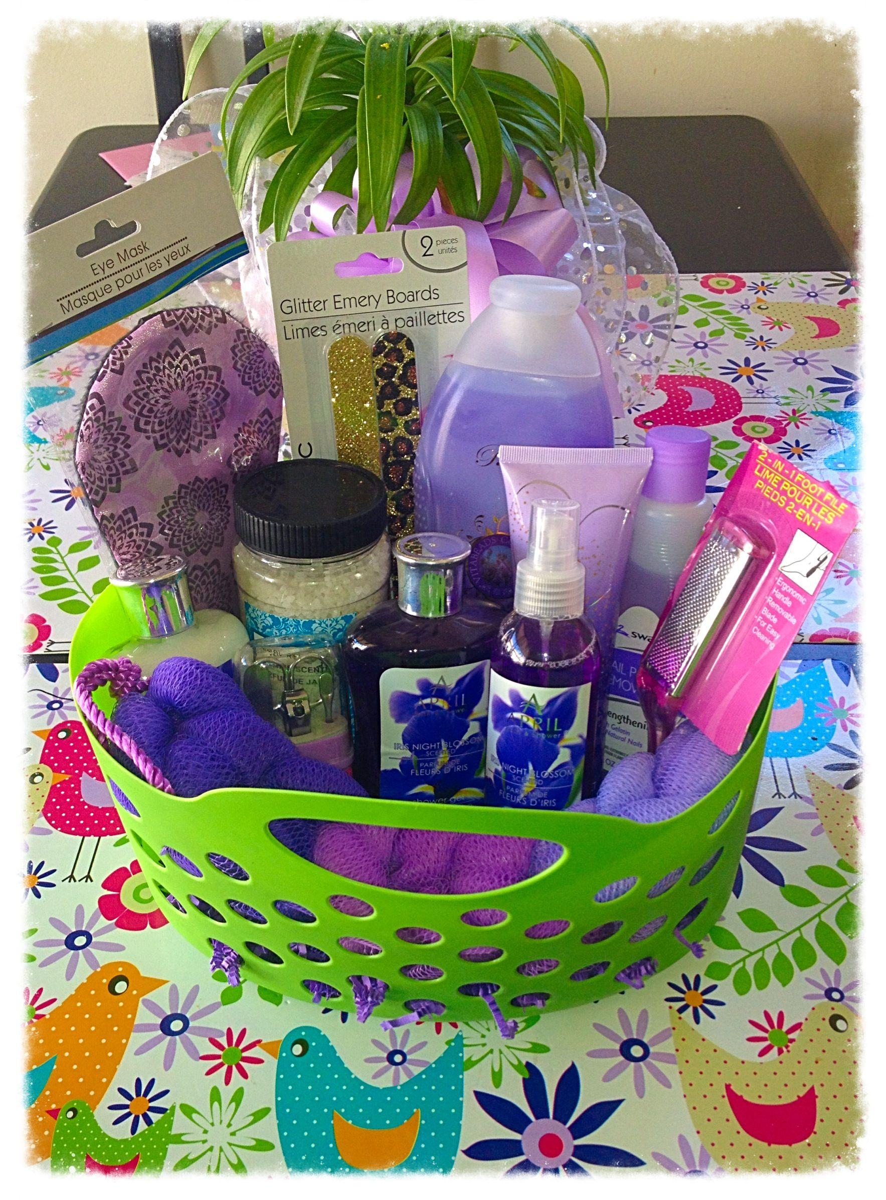 Pamper yourself basket Spa Basket, Basket Ideas, Secret Pal Gifts