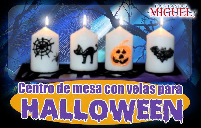 Centros de mesa para halloween d a de muertos velas for Centros de mesa para halloween
