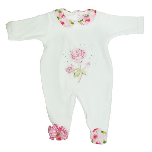 eb61f829d Little Darlings White Babygrow