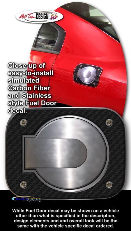 Simulated Carbon Fiber Vehicle Specific Fuel Door Decals For Dodge Charger Door Decals Dodge Charger Carbon Fiber