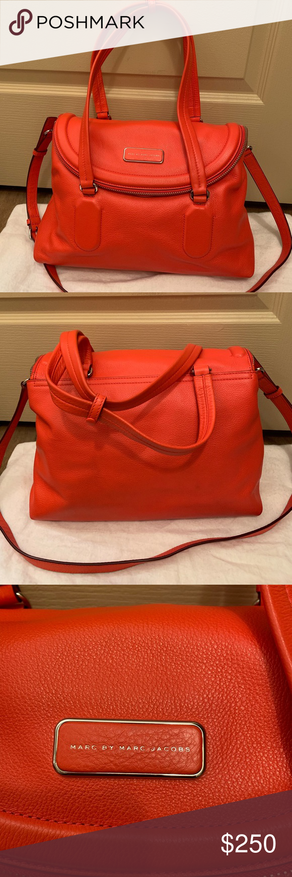 c16ec1ccb1 Marc by Marc Jacobs Silicone Valley Satchel Like-new. Used handful of  times. Italian leather. See last pic for details. No trades/mod pics.