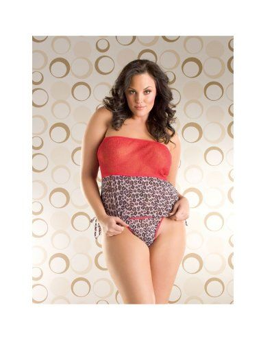 28c60d10370 Sexy Fashion Bug Underwear - Tube Cami Thong Leopard Red and Red Queen www. fashionbug.us