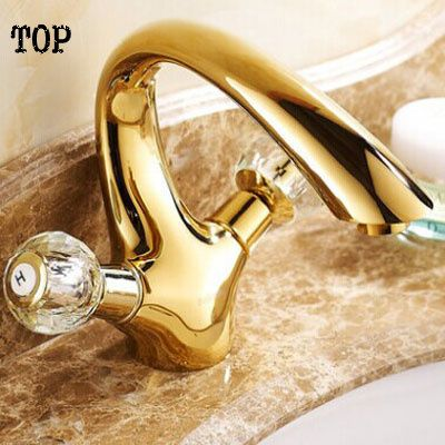 Double handle crystal bathroom basin tap sink faucet water faucet ...