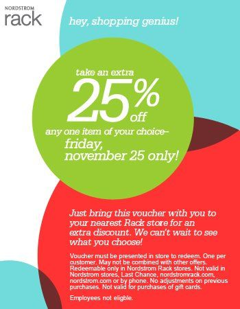 Nordstrom Rak Coupons Nordstrom Cleareance 25off Get Latest