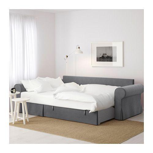 Divano letto con chaise-longue BACKABRO Nordvalla grigio scuro ...
