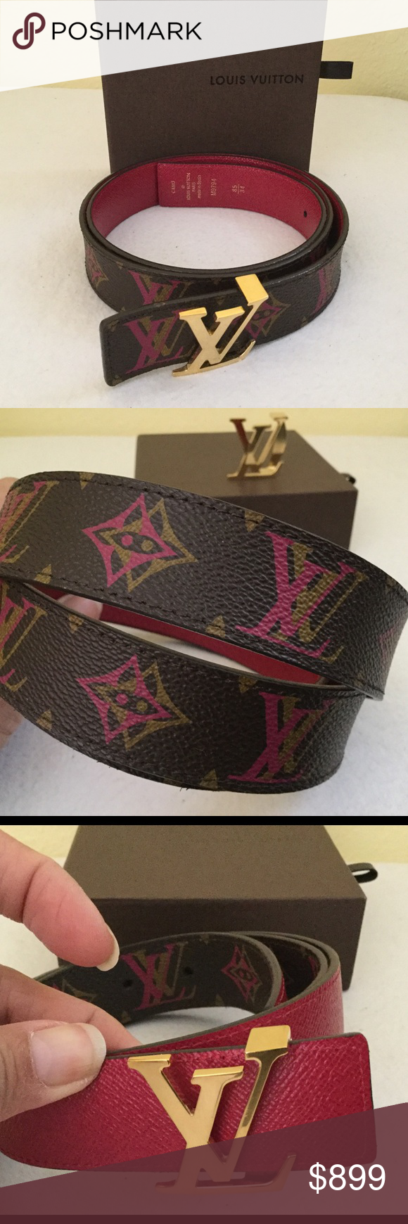 12c407c468cb Rare Louis Vuitton Initial Reversible Hipster Belt . Louis Vuitton  Accessories Belts