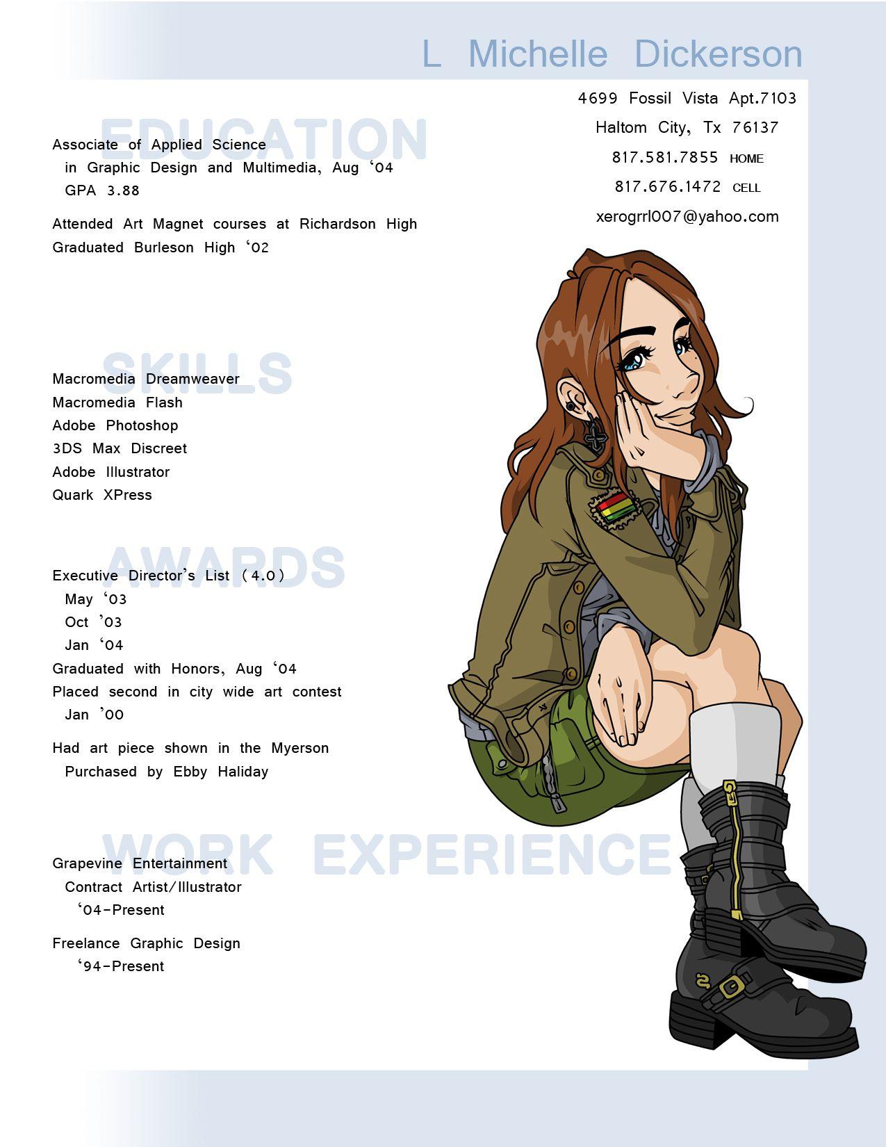 Creative CV   FD / G - Artist -- CV   Pinterest