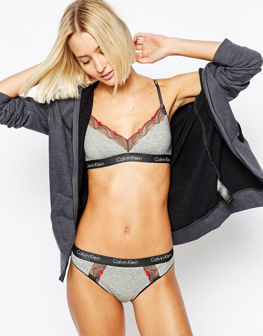Image 4 - Calvin Klein - Soutien-gorge triangle en coton  d9d451d6b28