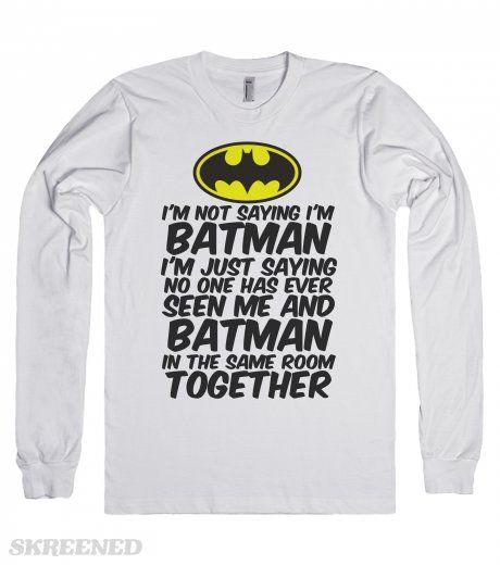 621dc3afdd793 thisisbatman | Long Sleeve Tee | SKREENED. | Hockey | Batman t shirt ...