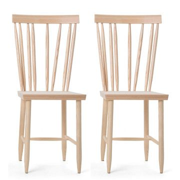 Design House Stockholm: Family Chair 4 Nature Set Of 2