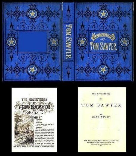 Handcrafted Illustrated Miniature Book Tom Sawyer Twain Miniatures for Dollhouse