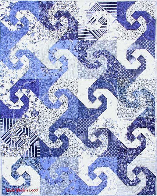 Apr 1 2007 Snail S Trail Blue Quilts Quilt Blocks