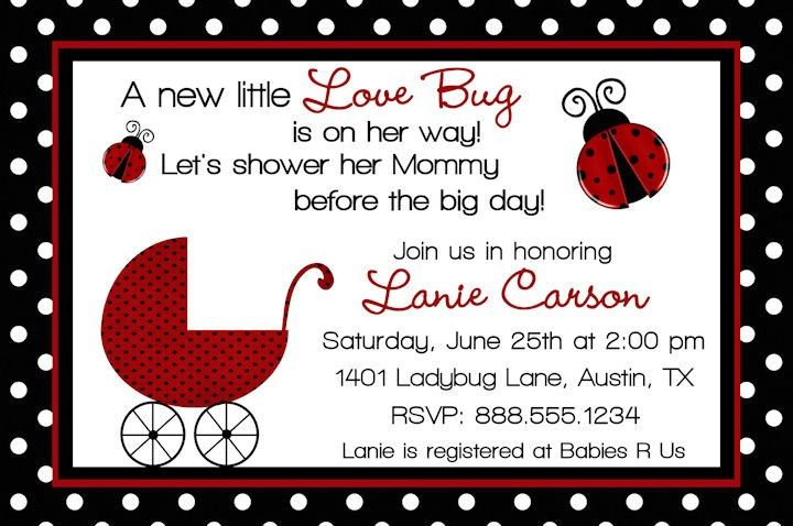 Free printable ladybug baby shower labels special ladybug baby pin this ladybug baby shower invitation wording special ladybug baby shower design ideas home party theme ideas stopboris Gallery