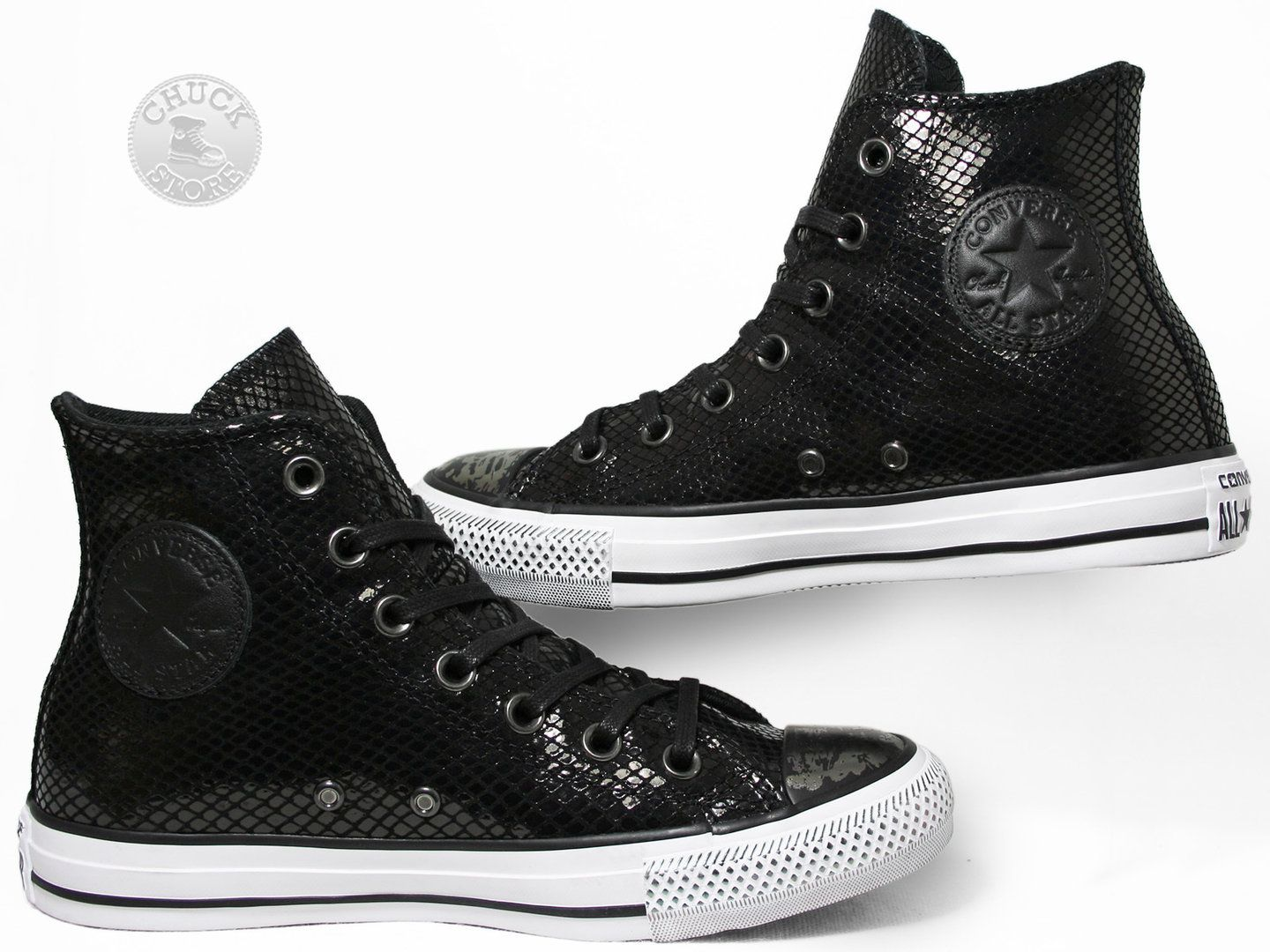 converse snake leather
