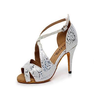 4a49da90373b Zapatos de baile (Plata) - Danza latina/Salón de Baile - Personalizados -  Tacón Personalizado 2016 - $22.99