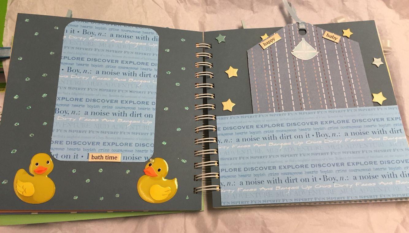 8x8 baby boy scrapbook layout