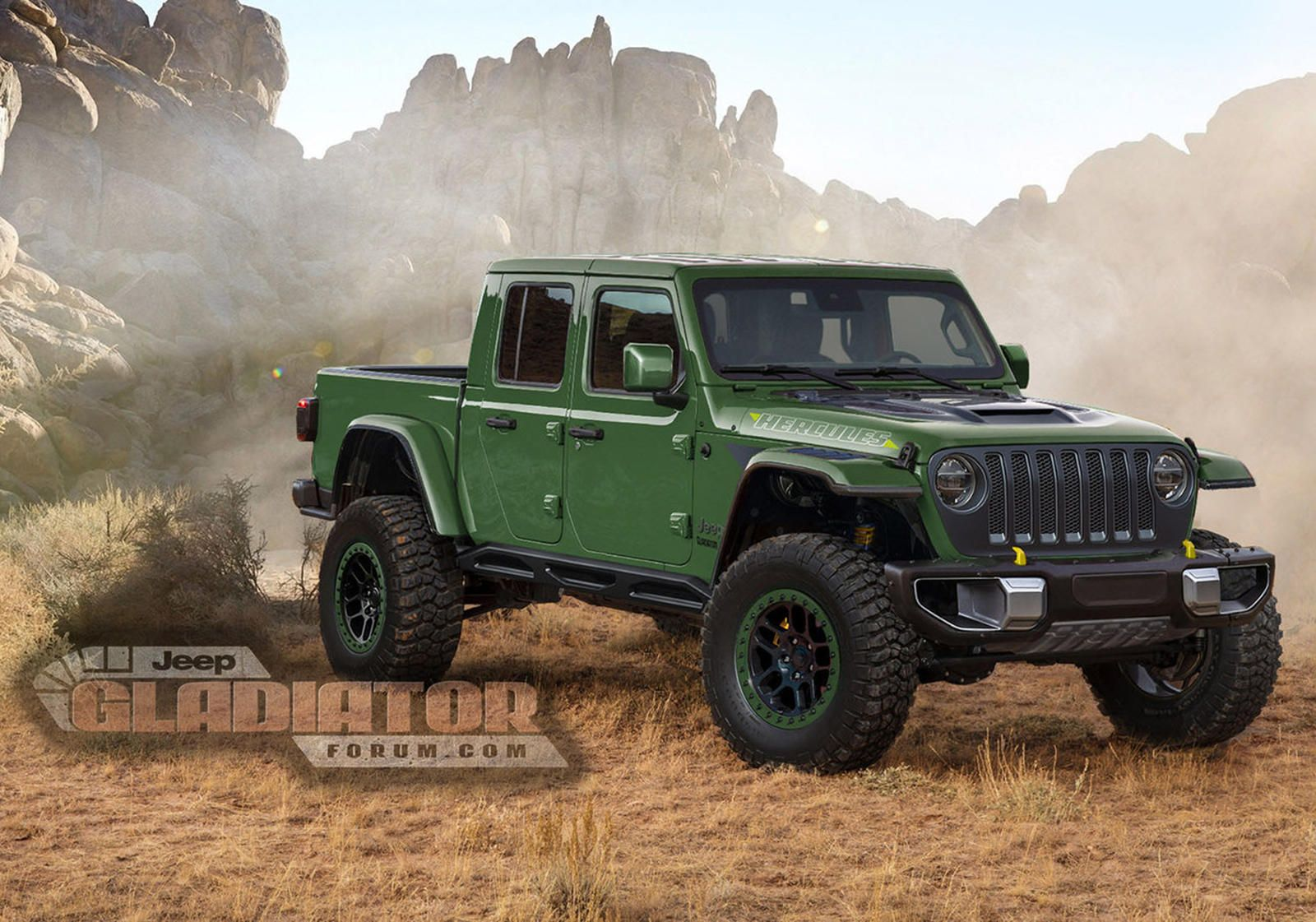 Jeep Gladiator Hercules Is Coming To Battle The Ford Raptor Jeep Gladiator Jeep Lifted Jeep