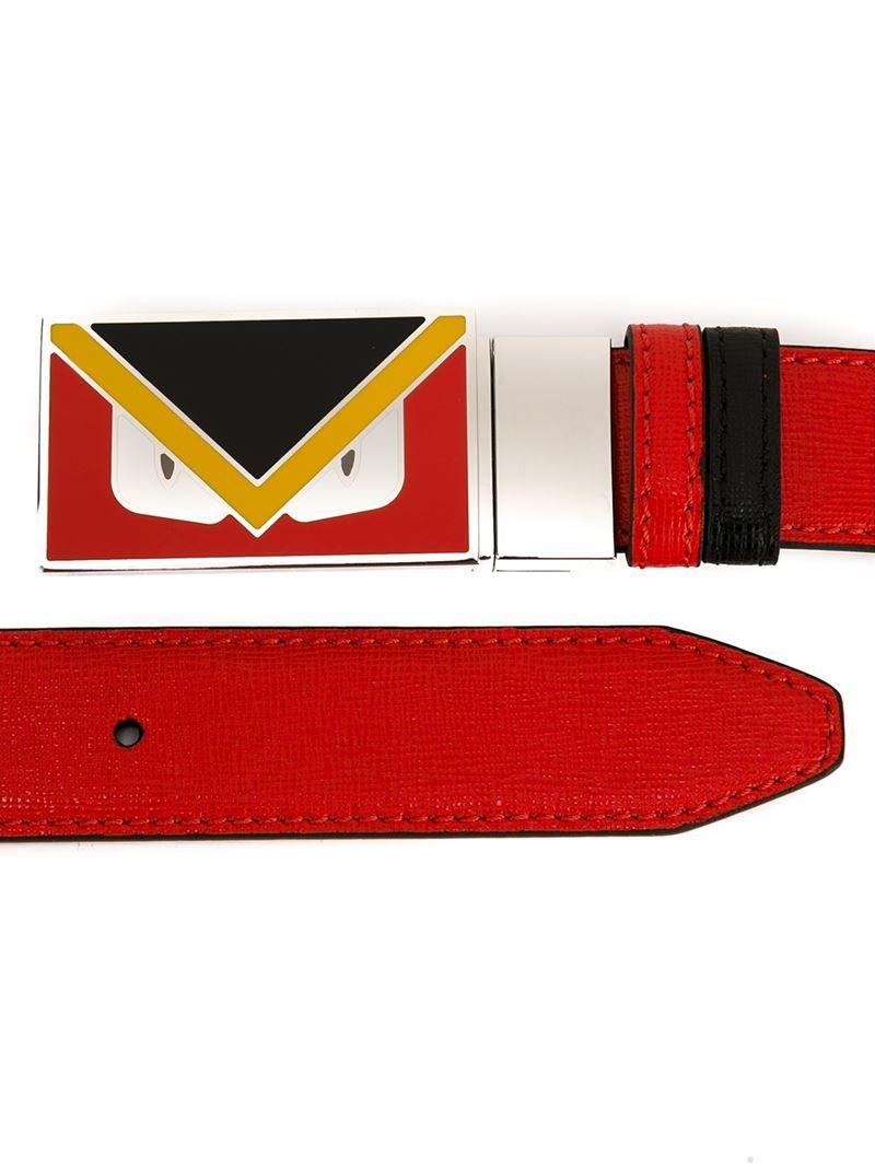 4c3db6c835a7 Men s Red Bag Bugs Buckle Belt