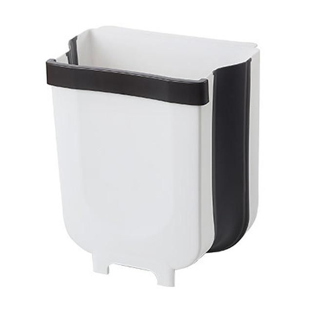 8L kitchen cabinet door hanging foldable trash can – small white …