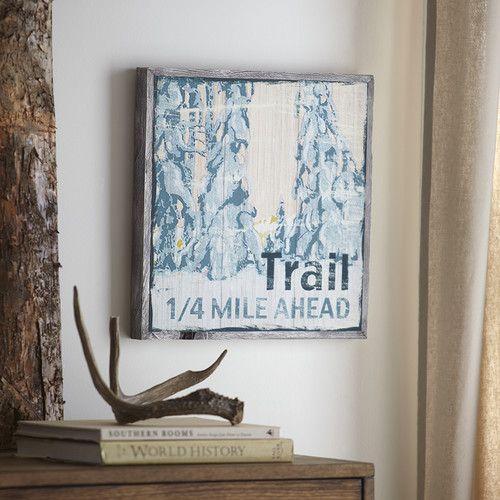 Trail wood wall art birchlane
