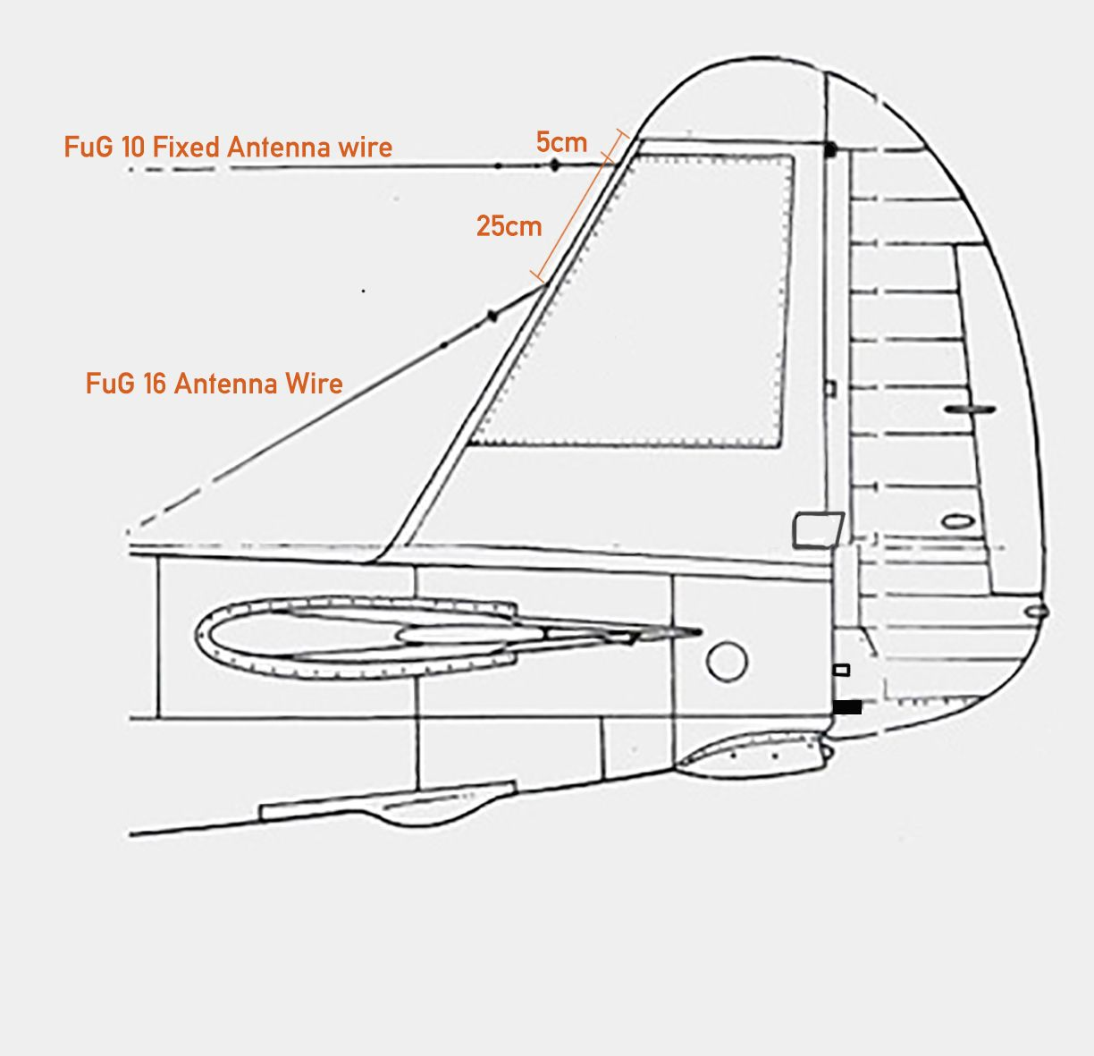 Ju 88a 1 Empennage Diagram Showing Connection Points Of