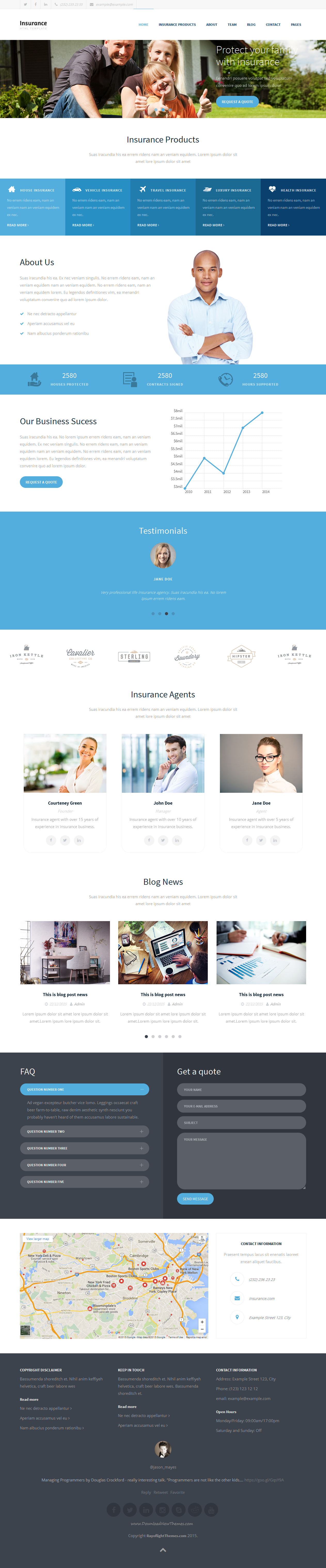 Insurance Agency - HTML5 Website Template | Website template ...