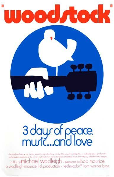 Woodstock 3 Days Of Peace Love And Music Film Poster 11x17 With