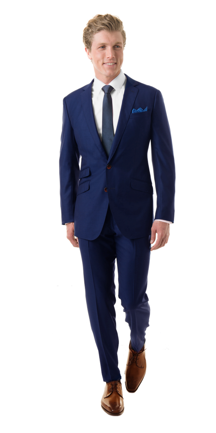 Royal Blue Custom Suit In 2018 Modern Grooms And Tuxedos Clarette Sneakers Charmaine Navy Got A Question About Getting The Best Suits Blazers Shirts Black Lapels Concierge Team Is Here To Help You All Along Way