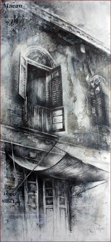 Ian Murphy Very Textured Work Using Ink Lots Of Smudging He Uses