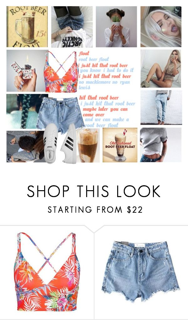 """""""Root Beer Float"""" by briar-valiant on Polyvore featuring Vitamin A, Chicnova Fashion and adidas"""