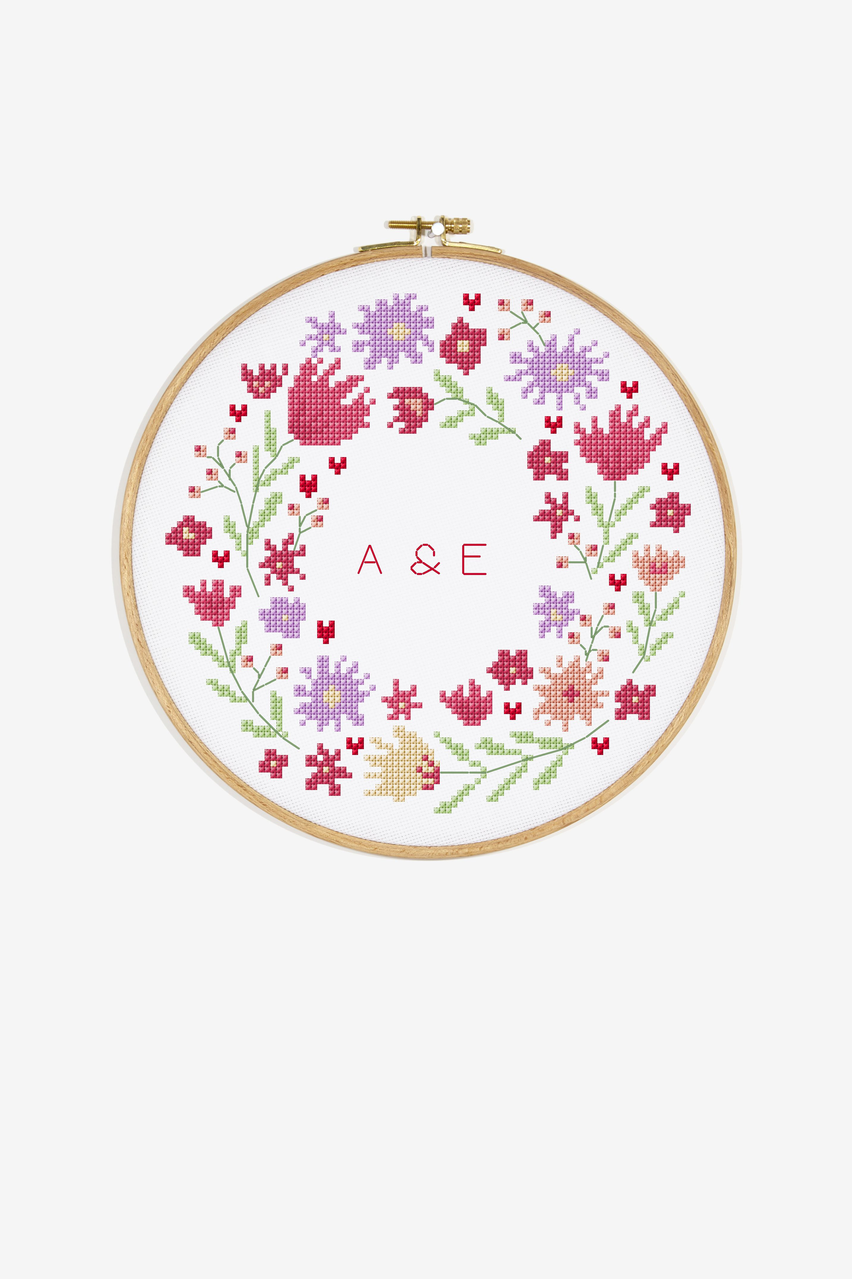 Daisy Wreath - Free Patterns