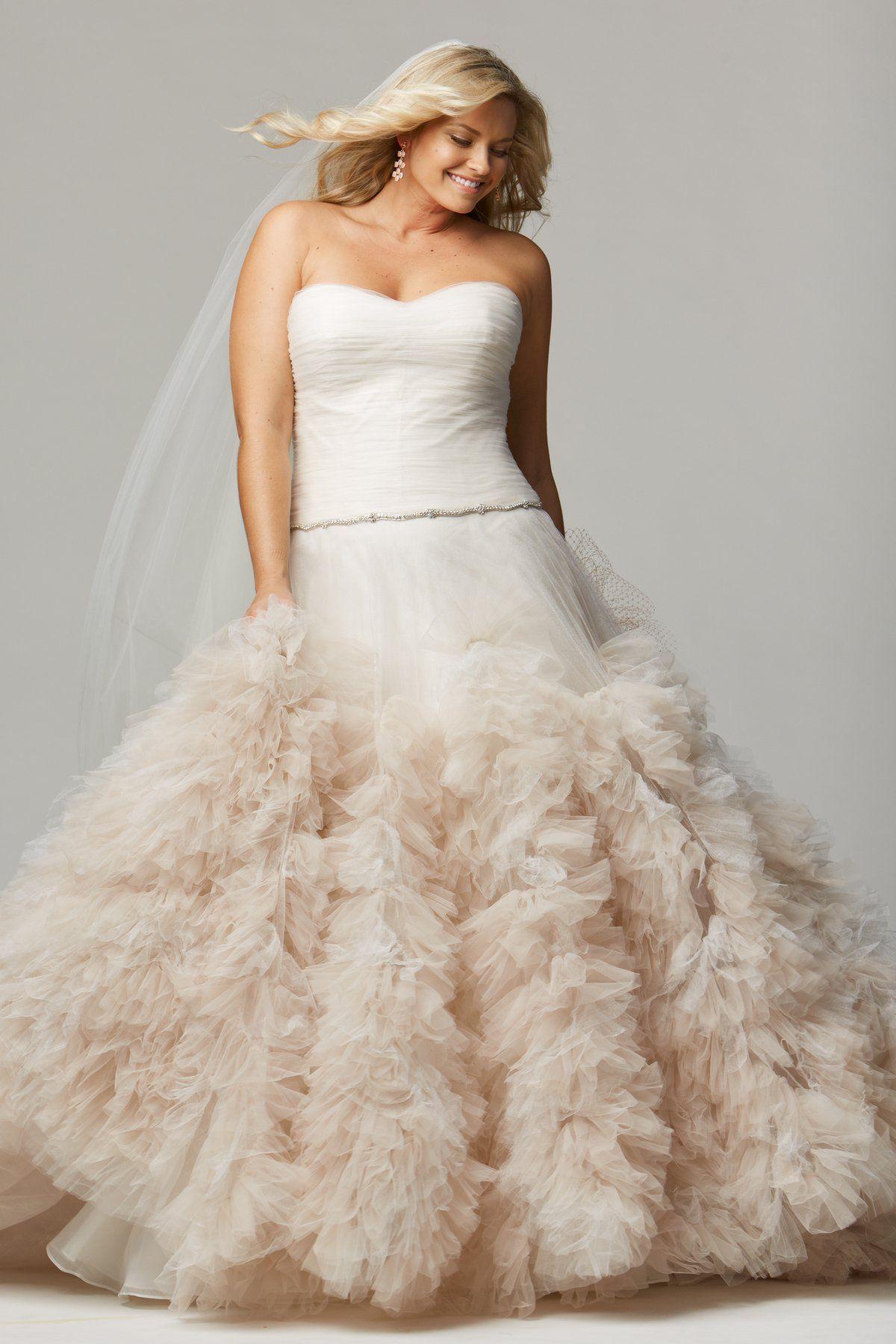 Wedding dresses for plus size brides  Wtoo Plus Size Wedding Dress  ALLEGRA  Wedding Dresses