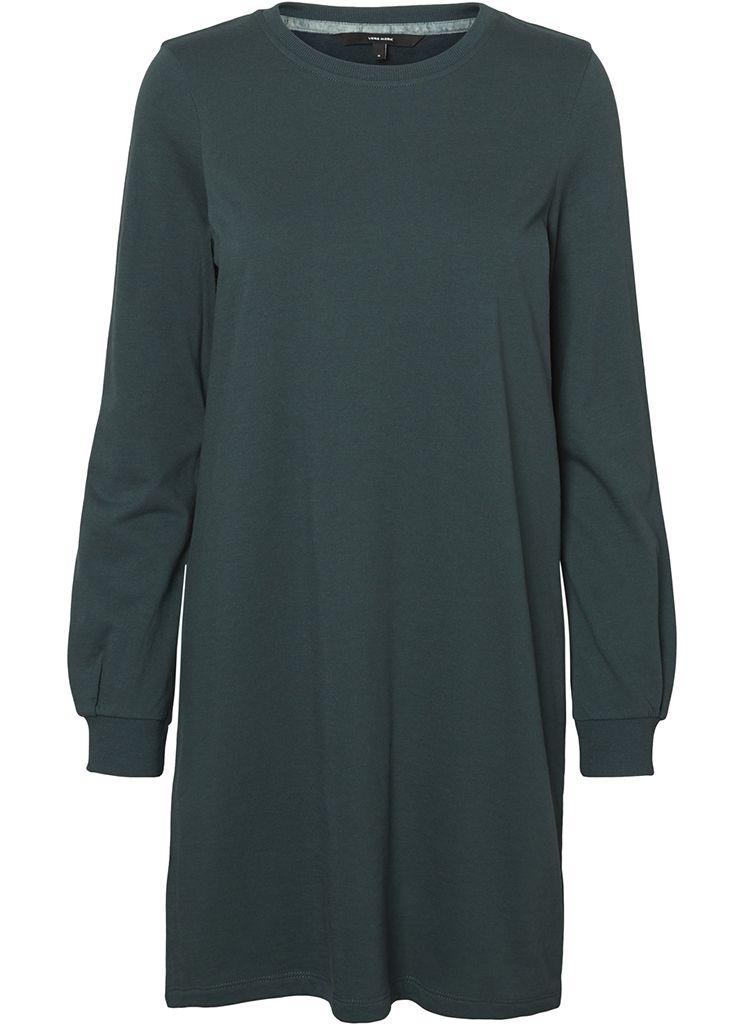 0ea9e35e3bd90b Vero Moda VMSERENA L S SHORT DRESS SWT Jurk green gables 10185853  Description  Vero