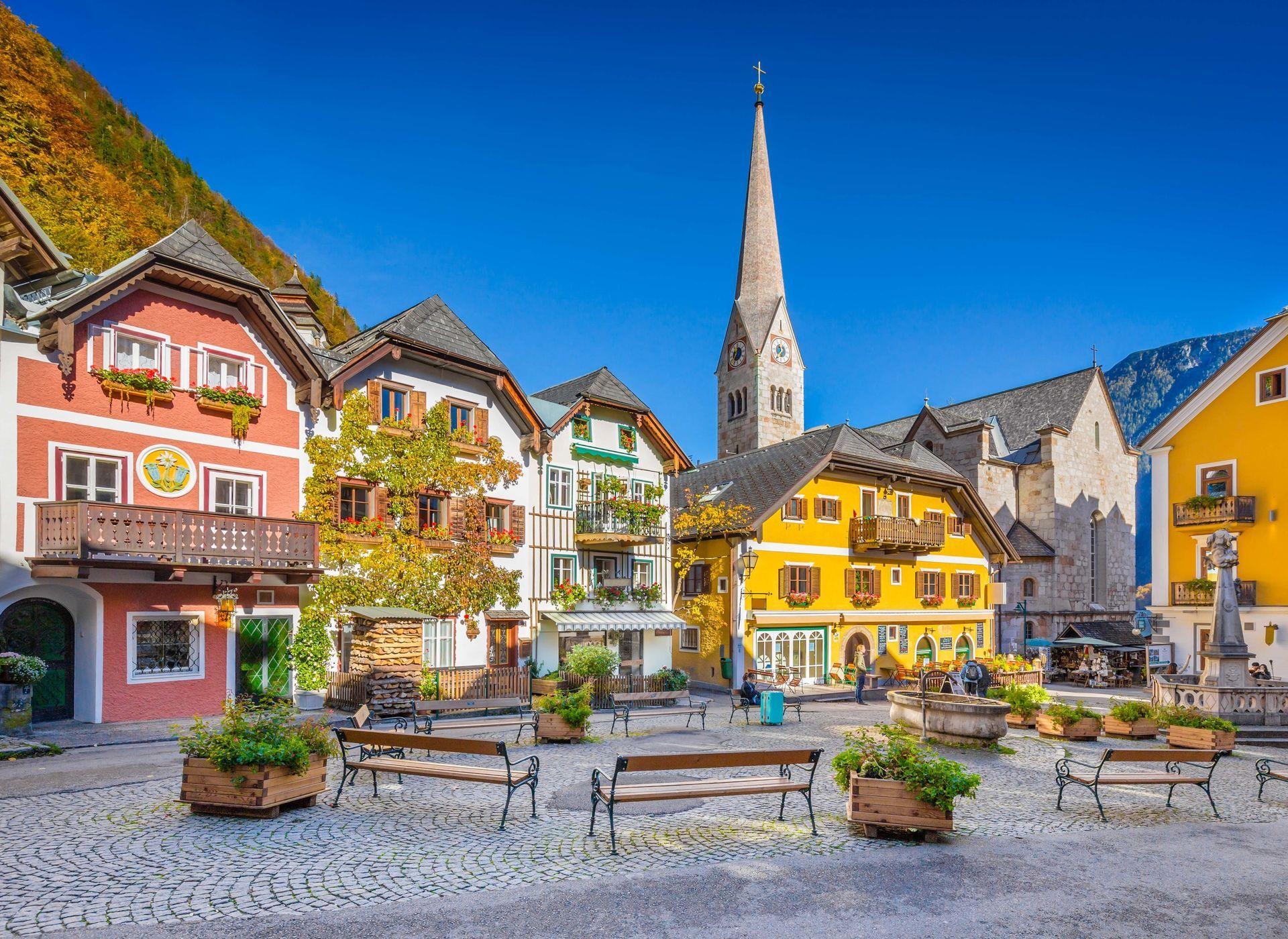 Hallstatt Hallstatt, Austria Building Town Landmark Sky City Town Square