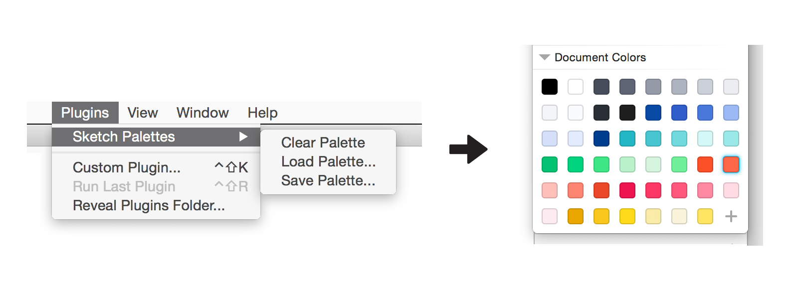 Sketch Palettes A Sketch Plugin For Exporting And Importing Fill