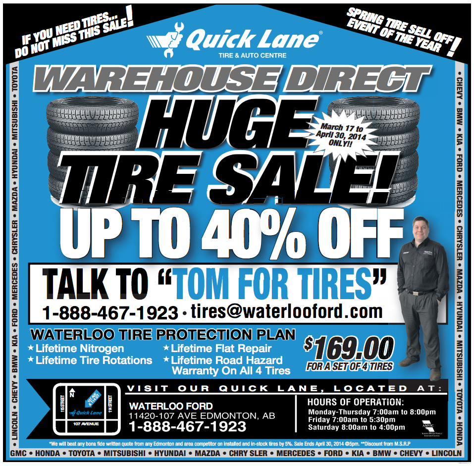 HUGE TIRE SALE ON NOW