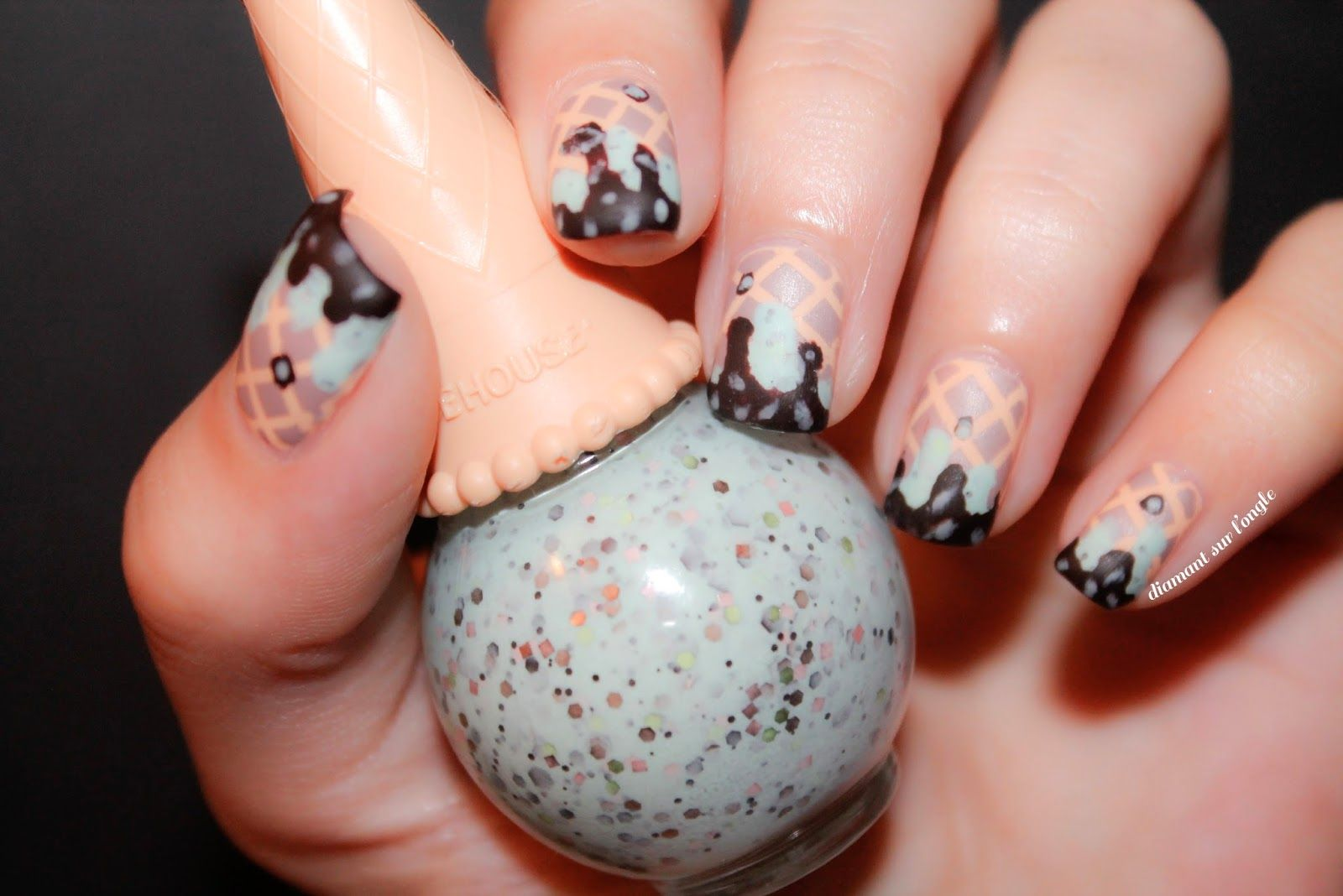 ❄ Ice Cream Nails // Nailstorming by diamant sur l\'ongle | Nail art ...