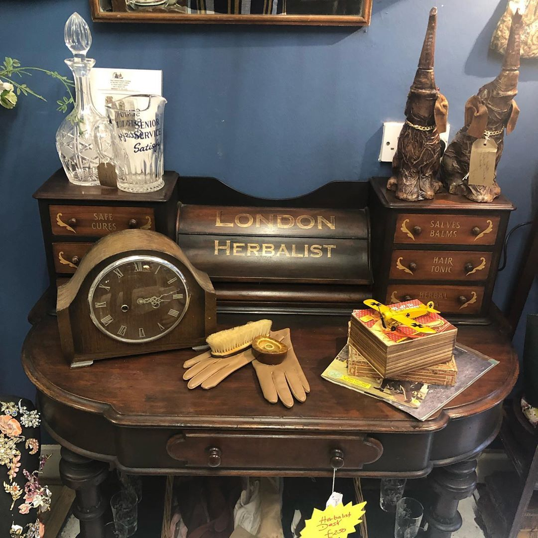 Herbalist desk #vintagefashion #retroclothing #ladiesvintage #accessories #handbags #shoes #luxuryvintage #designer #luggage #furniture #collectibles #industrialdecor #farmhouse #salvage #gardendesign #upcycling #mouroxiii #vintageatjuju #pimmsboutique #maidstone #rochester
