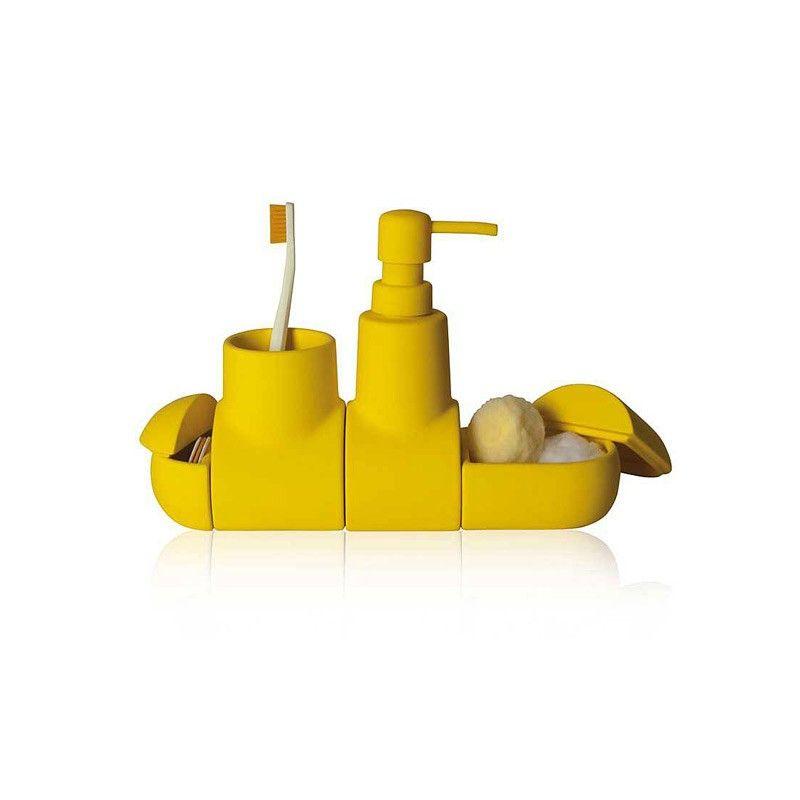 Seletti Set Accessori Bagno Submarino Giallo Con Immagini