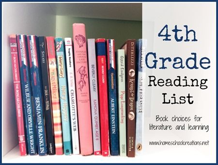 4th Grade Homeschool Reading List Homeschooling Pinterest