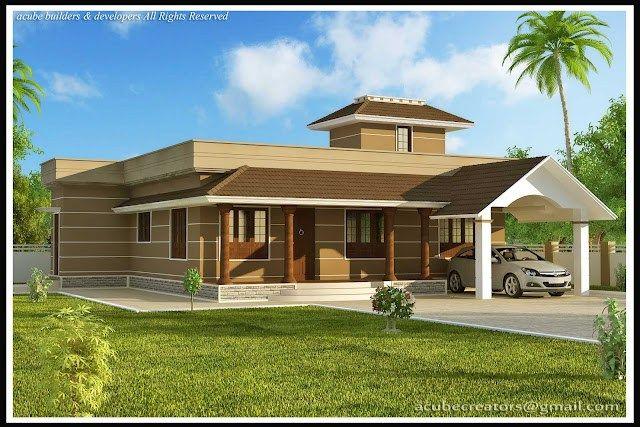 Single Story Home Designs Kerala Home Design Single Home Design Story Black Hairstyle Haircuts