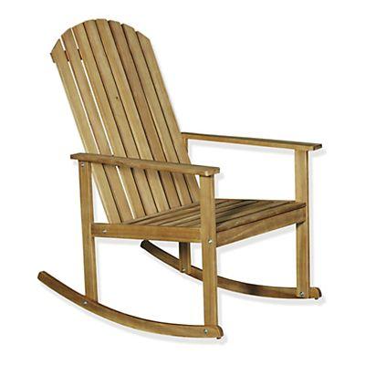 Bergonce Rocking chair en acacia huilé | deco jardin bois ...