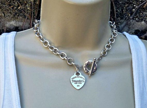 15daaaadd A classic Tiffany sterling silver chain necklace marked 925 please return  to Tiffany & Co. New York. 16